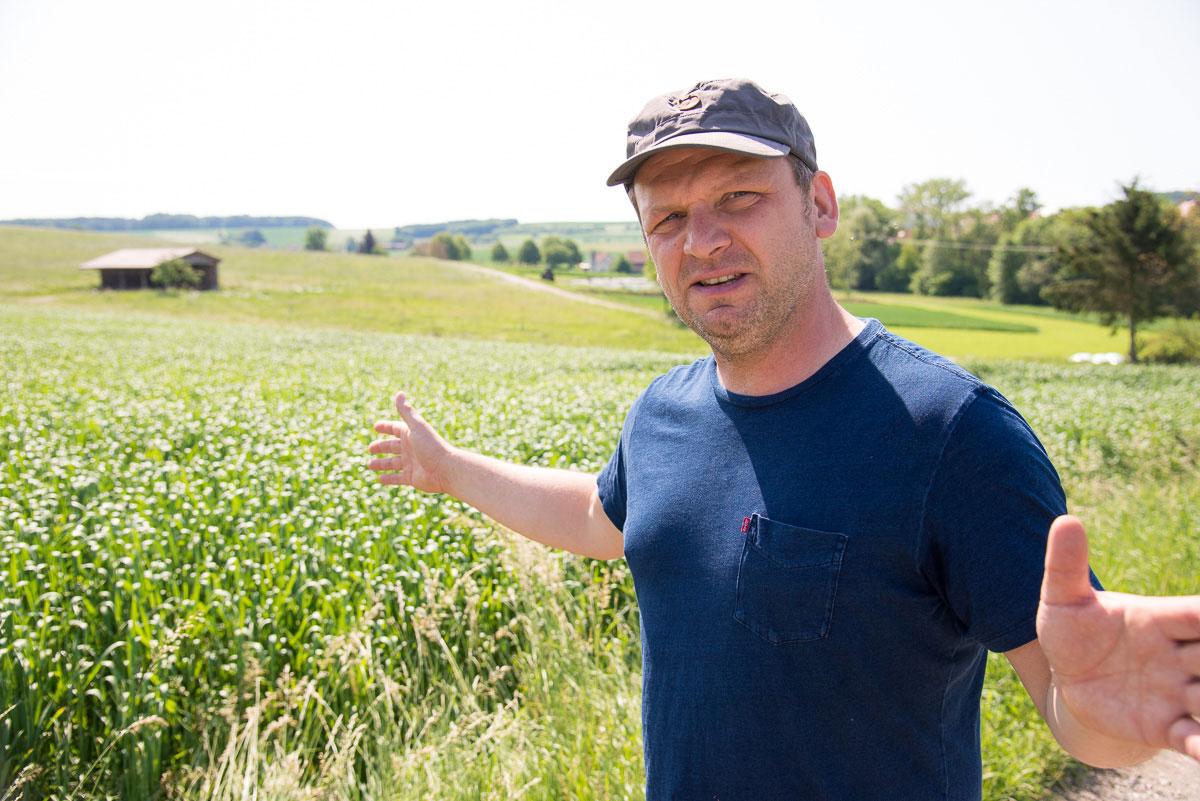Biobauer im Feld