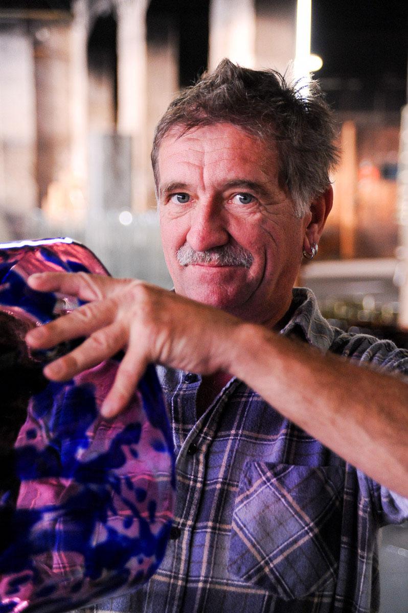 Portrait eines Glasbläsers