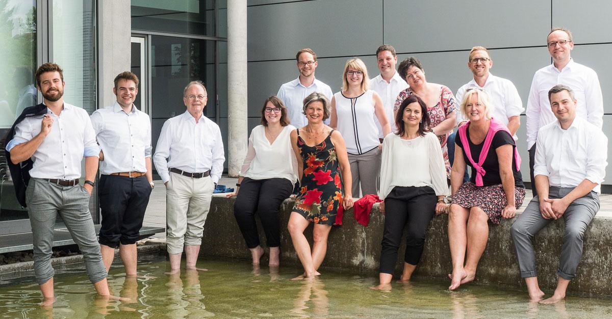 Gruppenfoto einer Firma