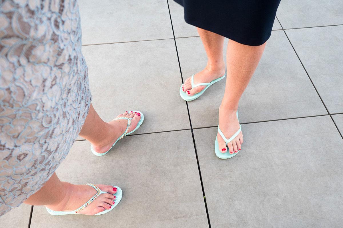Füße in Flipflops