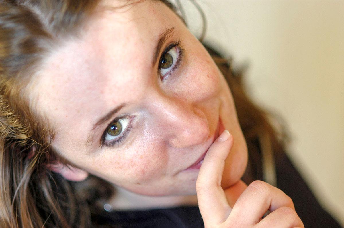 Portrait einer lächelnden Frau